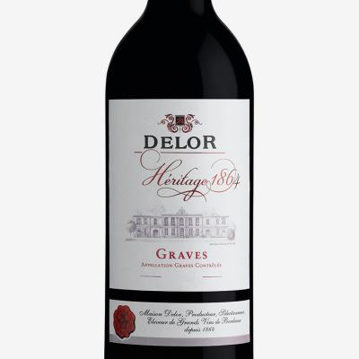 Graves_rouge-Delor_Heritage_1864-vin_Bordeaux