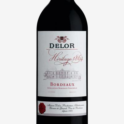 Rouge_bordeaux-Delor_Heritage_1864-vin_Bordeaux